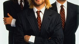 Nirvana Wearing Suits and Neckties