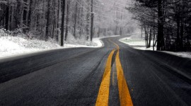 Road Winter Best Wallpaper