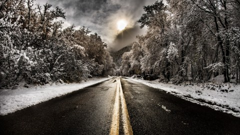 Road Winter wallpapers high quality