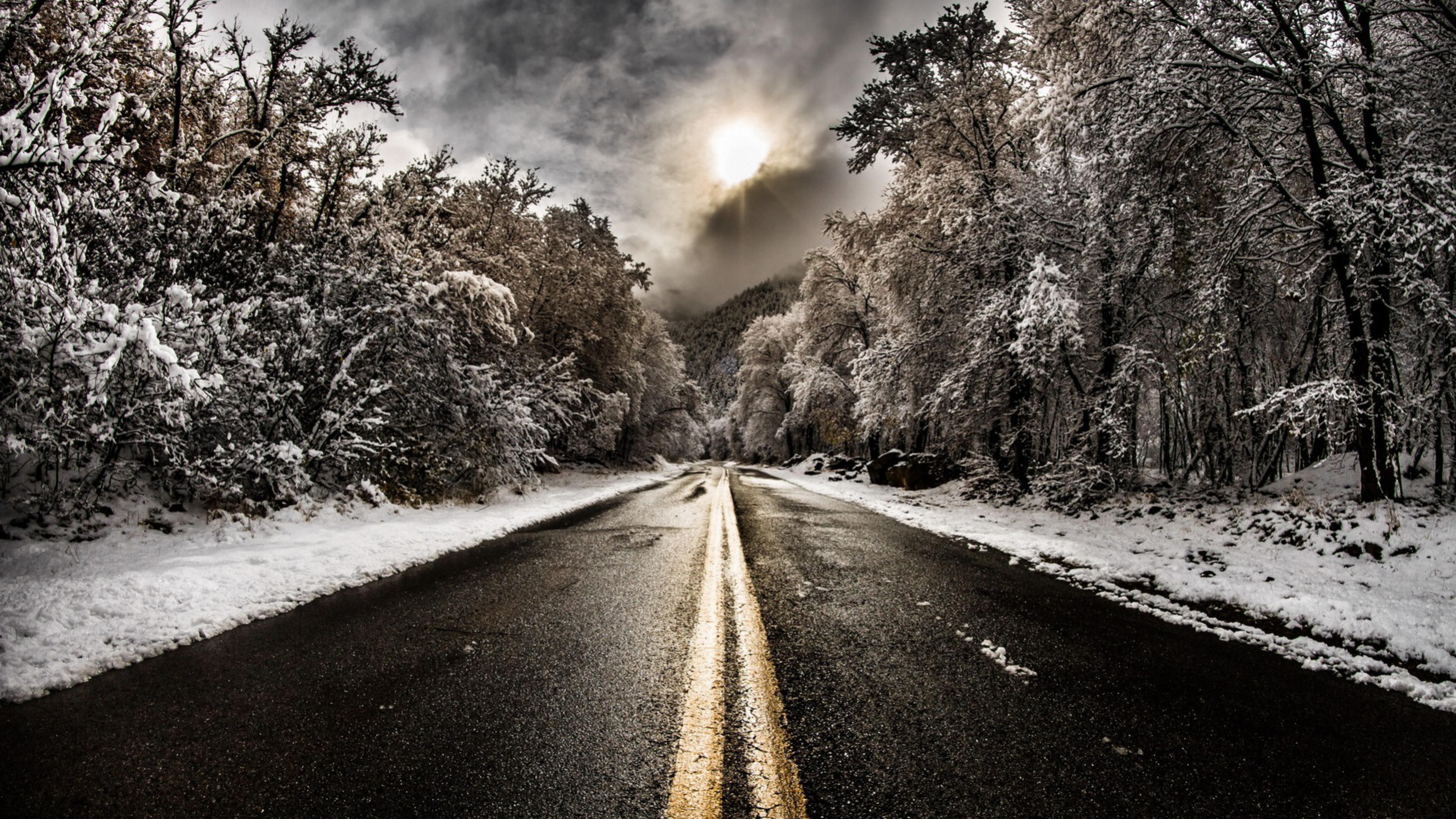 Road Winter Wallpapers High Quality Download Free