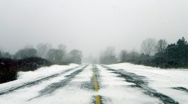 Road Winter Wallpaper For PC