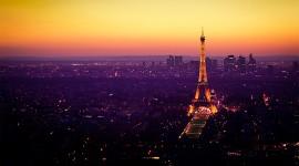 4K Eiffel Tower Wallpaper Background