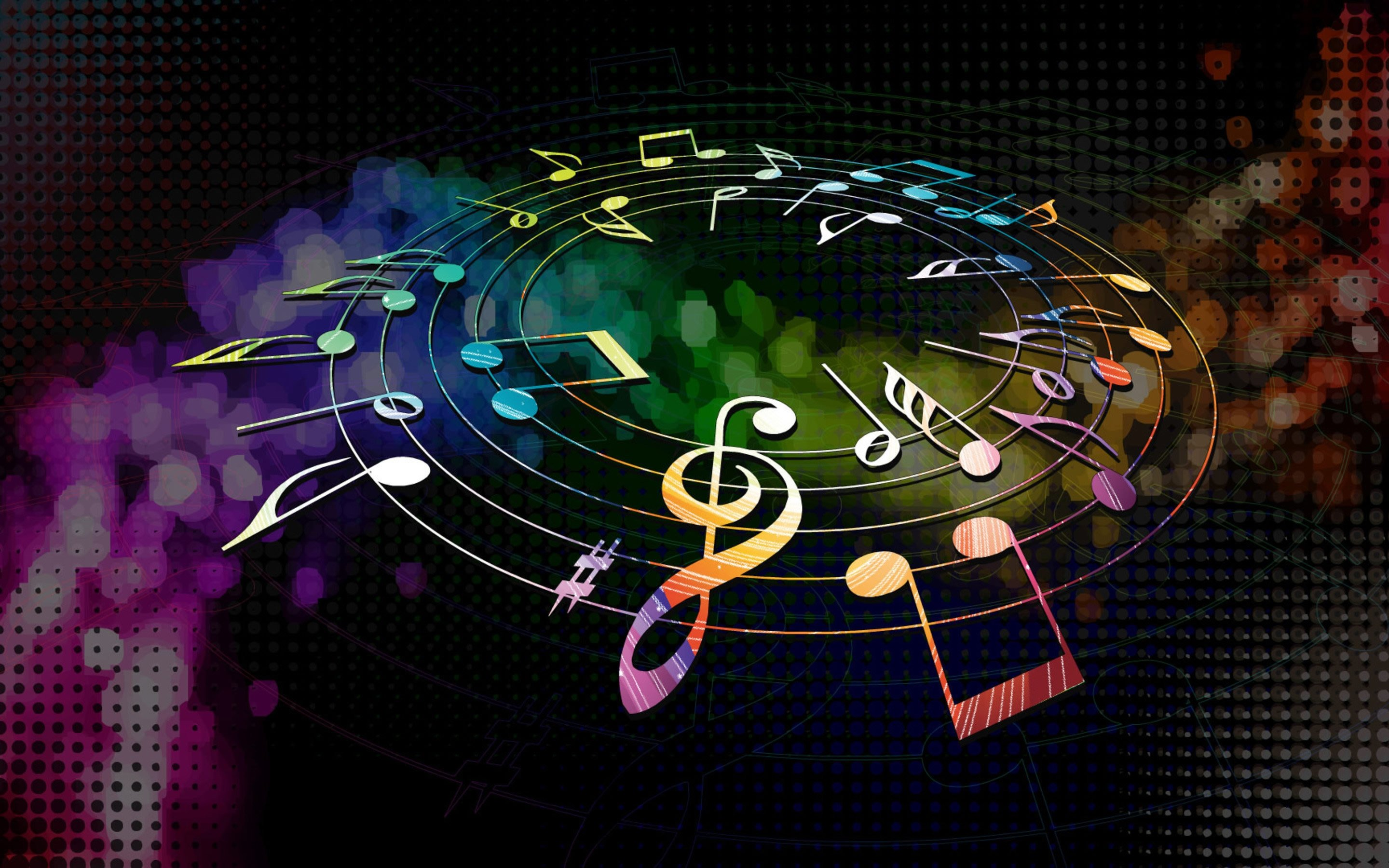 4k Musical Notes Wallpapers High Quality Download Free