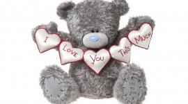 Bear and Love Desktop Wallpaper