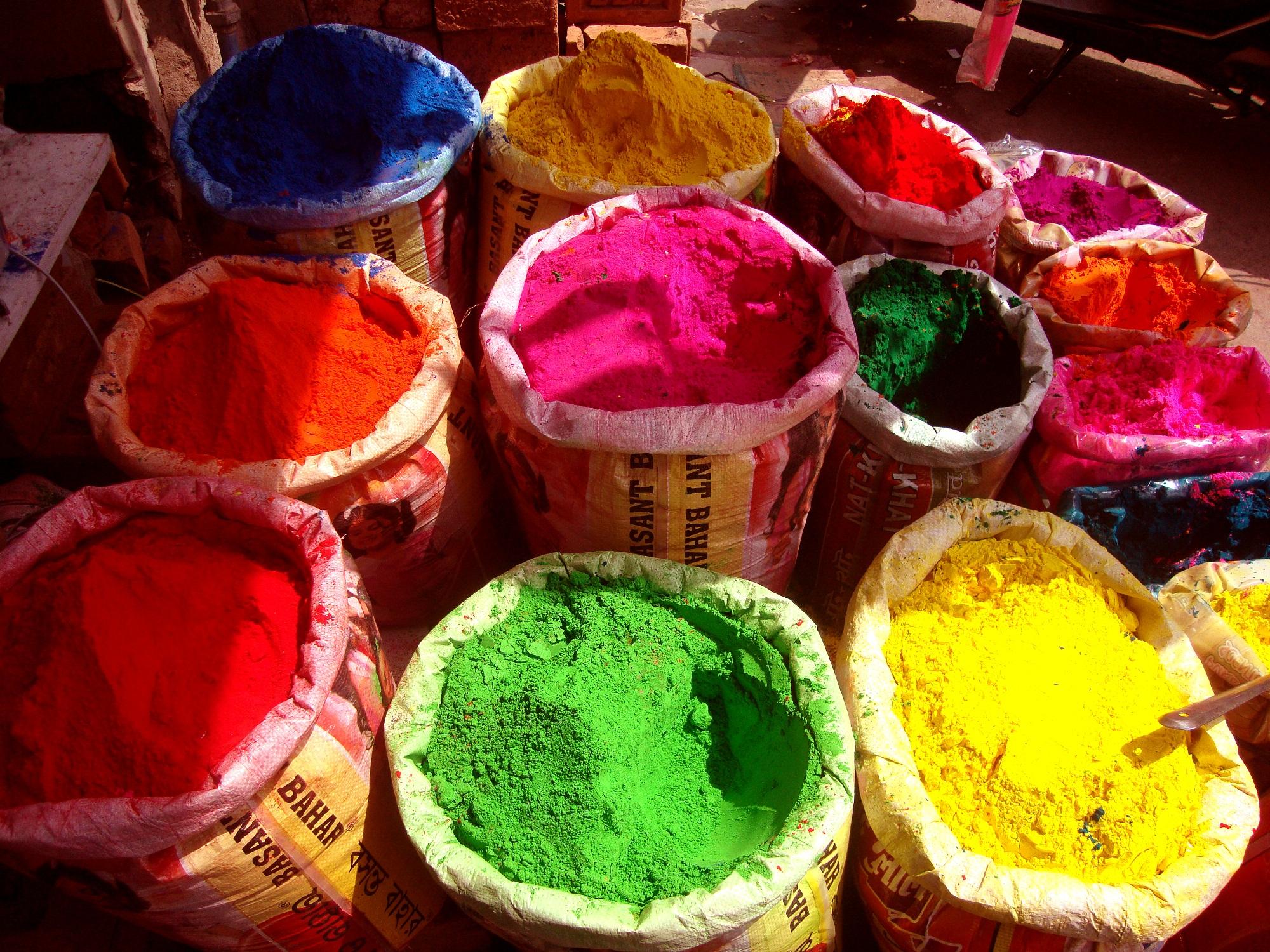 Как сделать краску холи в домашних условиях фото