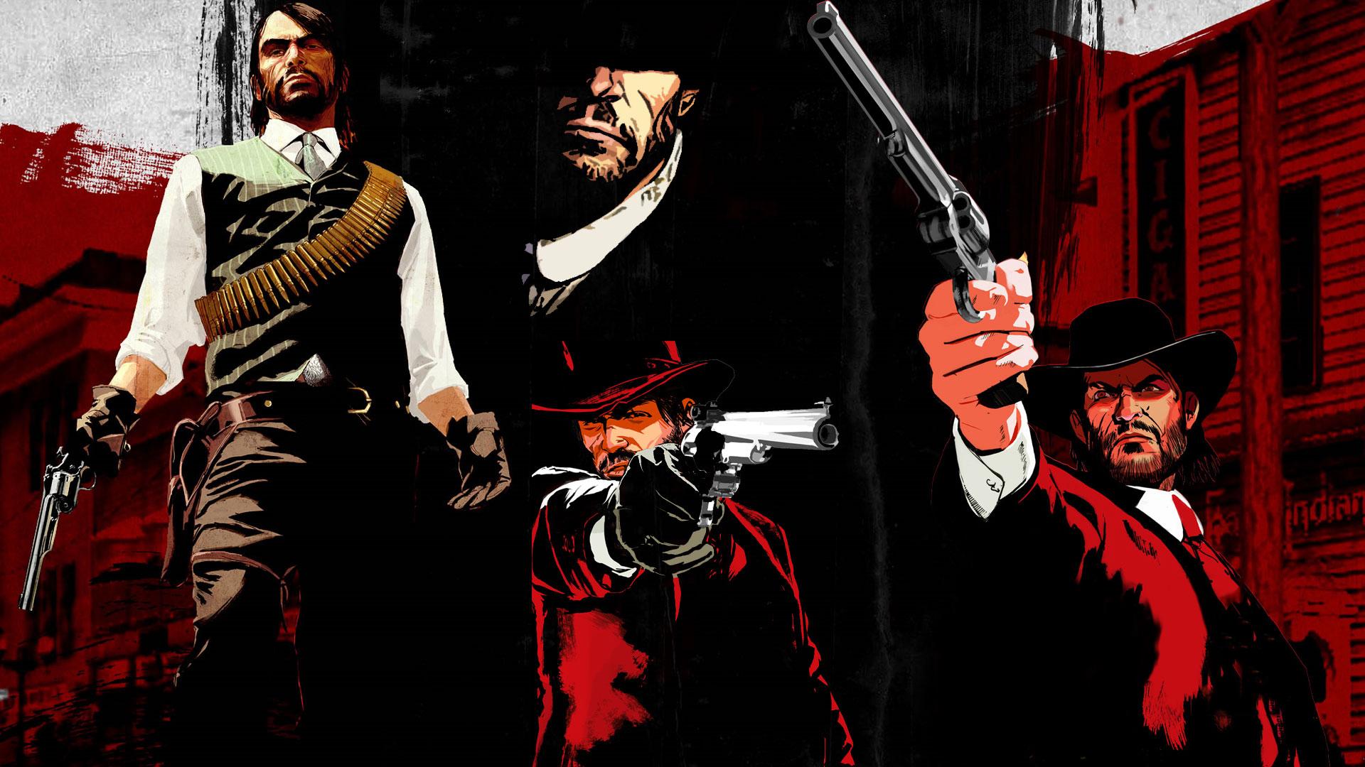 RDR John Marston With Double Barreled Shotgun Wallpaper For PSP