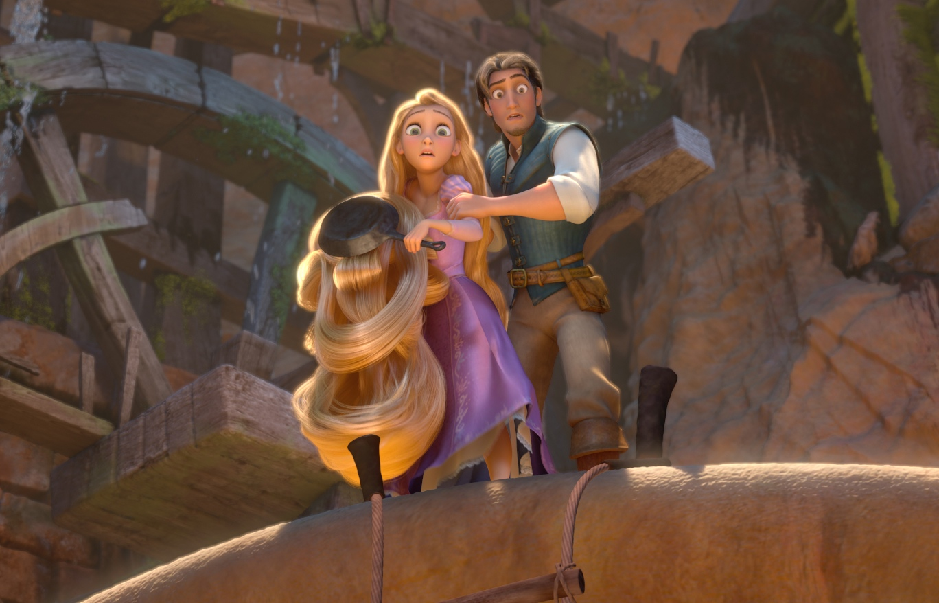 movie review tangled Rapunzel, a beautiful tower-bound teen, yearns to see the world, when a thief helps her escape, an excitingly comical adventure begins.