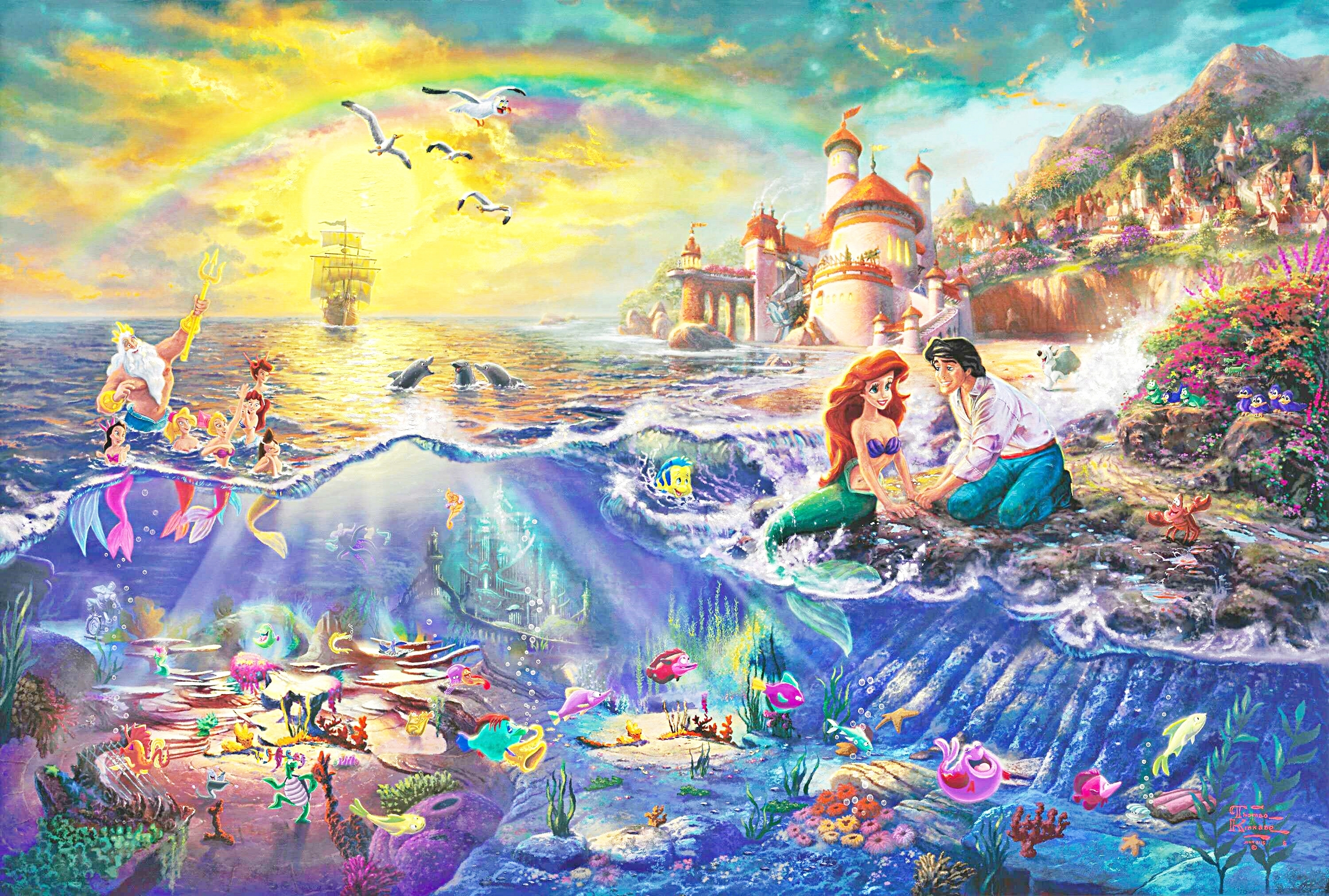 the little mermaid wallpapers high quality | download free