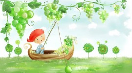 4K Grapes Image