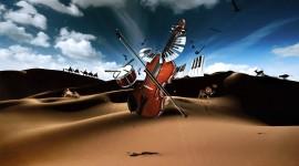 4K Violin Wallpaper Background