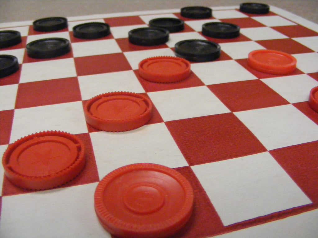 how to lose at checkers