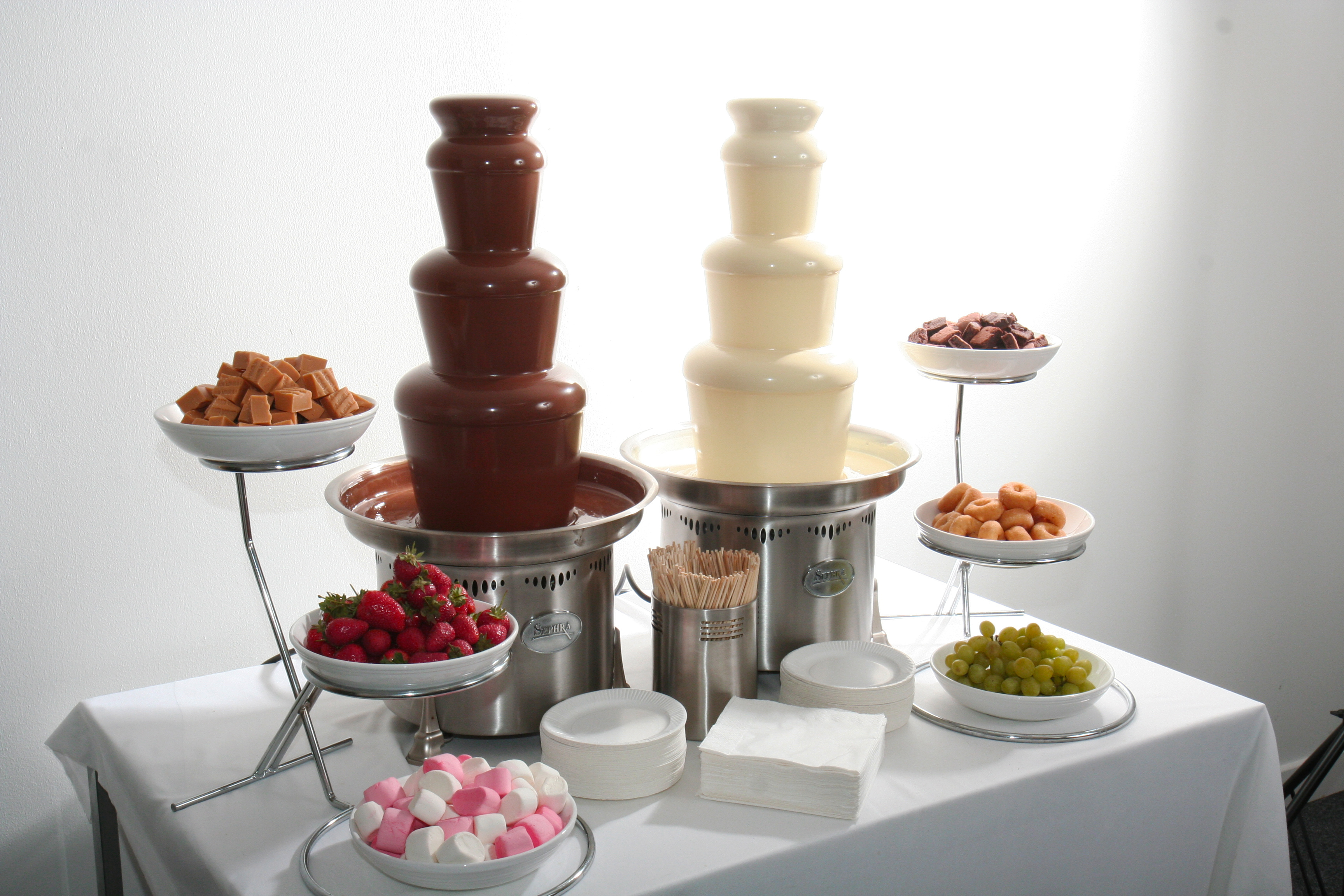 Chocolate Fountain Display - Pumpkin Chocolate Chip Cookies