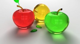 Glass Fruit Desktop Wallpaper