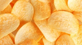 Potato Chips Wallpaper Background