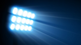 Spotlights At The Stadium High Quality Wallpaper