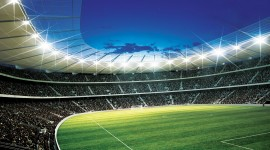 Spotlights At The Stadium Wallpaper Download Free