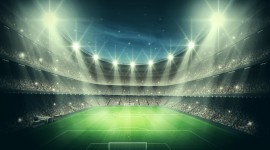 Spotlights At The Stadium Wallpaper For PC