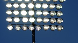 Spotlights At The Stadium Wallpaper Free