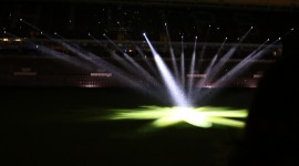 Spotlights At The Stadium Wallpaper Widescreen