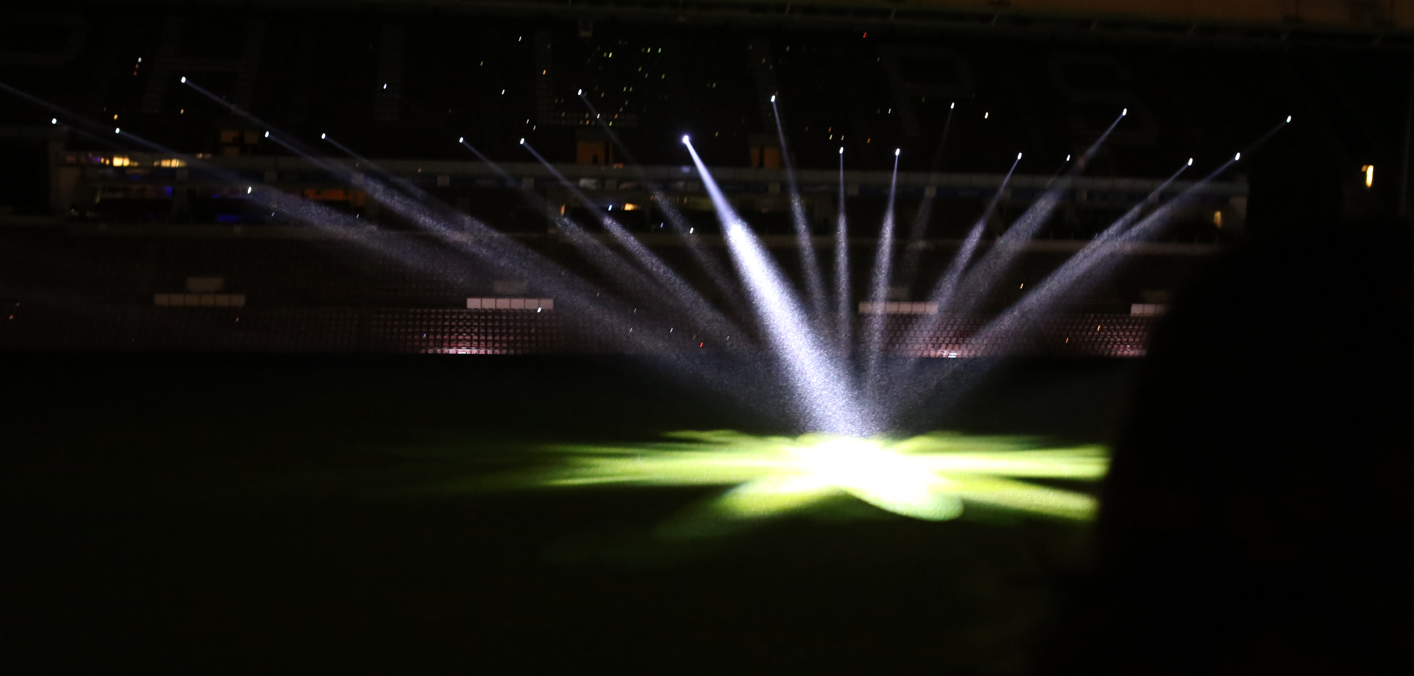 Spotlights At The Stadium Wallpapers High Quality