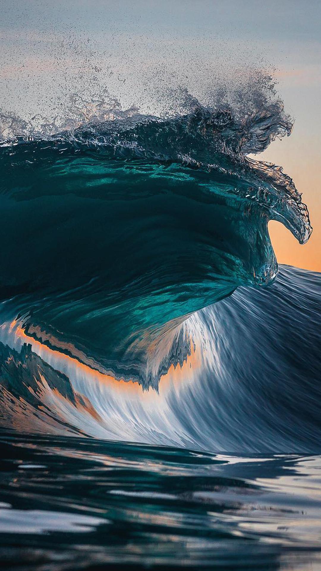 Wave Wallpaper High Resolution 4K Big Wave Wal...