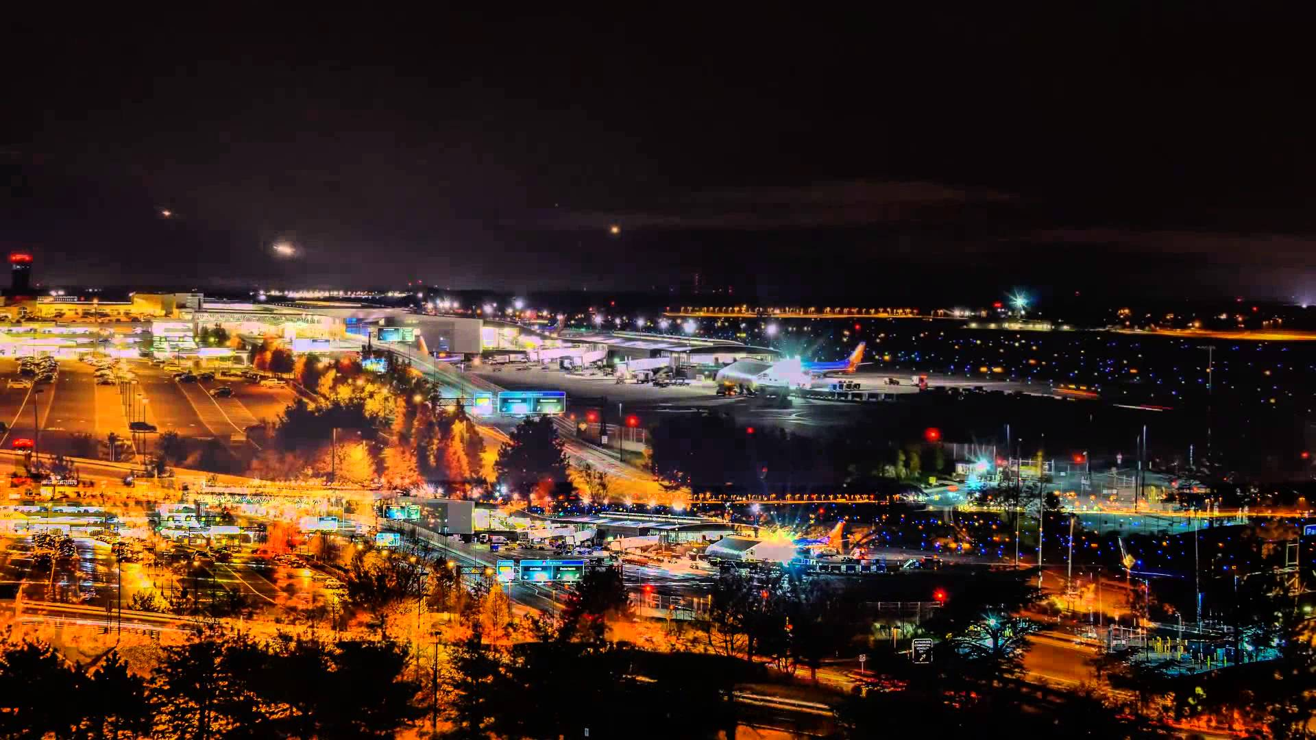 night airport wallpapers high quality download free