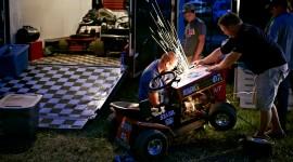 Racing On Lawn Mowers Wallpaper
