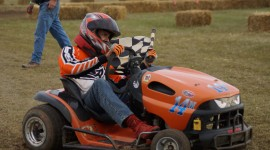 Racing On Lawn Mowers Wallpaper Download