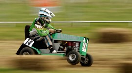 Racing On Lawn Mowers Wallpaper Download Free