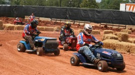 Racing On Lawn Mowers Wallpaper Free