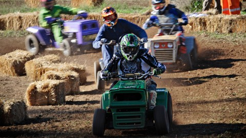 Racing On Lawn Mowers wallpapers high quality