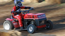 Racing On Lawn Mowers Wallpaper HD