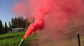 Red Smoke Wallpaper Free