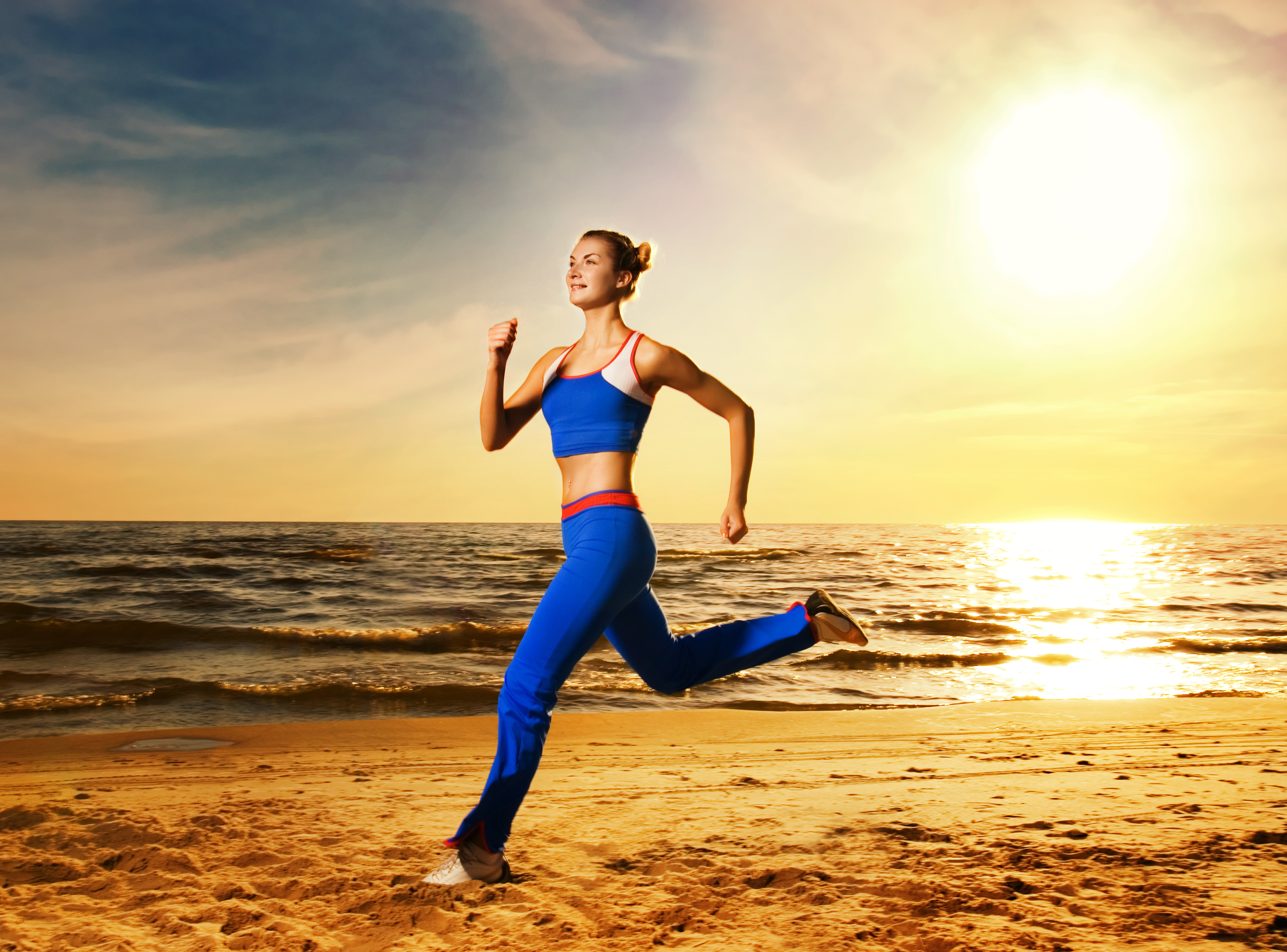 Running on the beach wallpapers high quality download free - Beach girl wallpaper hd ...
