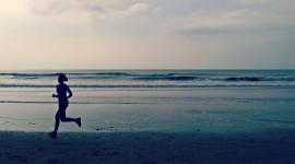Running On The Beach Wallpaper