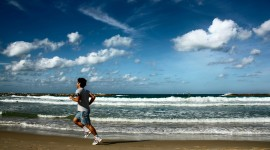 Running On The Beach Wallpaper Free