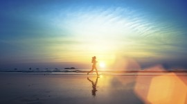 Running On The Beach Wallpaper HD