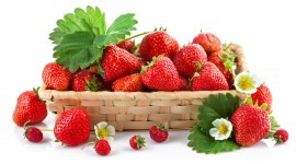 4K A Basket Of Strawberries Photo#1