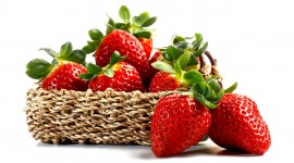 4K A Basket Of Strawberries Photo#2