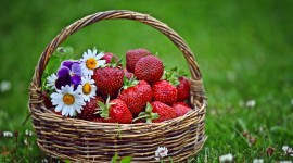 4K A Basket Of Strawberries Wallpaper 1080p