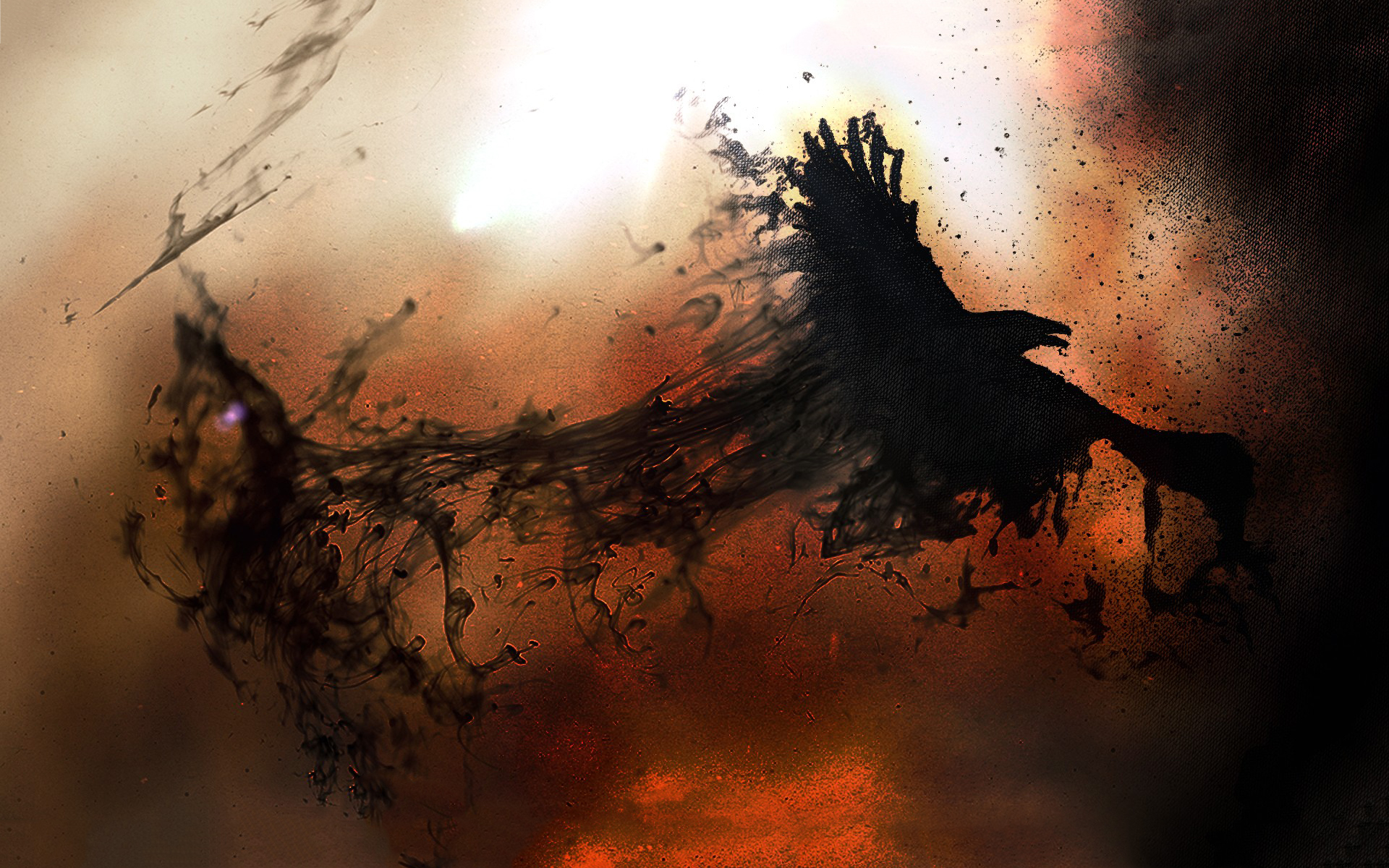 Crows flying wallpaper