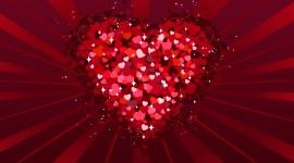 4K Little Hearts Wallpaper Background