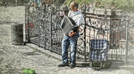 Accordionist Photo Free