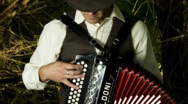 Accordionist Wallpaper For IPhone