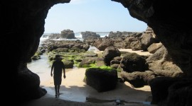 Beach With Caves Photo