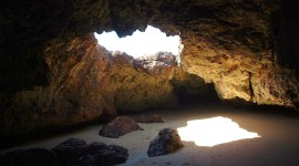Beach With Caves Wallpaper Gallery