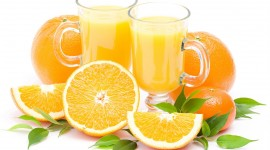 Orange Juice Wallpaper Full HD