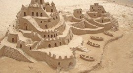 Sand Castles Desktop Wallpaper For PC