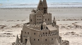 Sand Castles Desktop Wallpaper HD