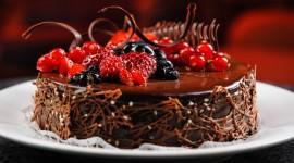 4K Berries In Chocolate Desktop Wallpaper